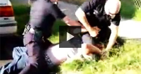 LA Police Officer Beating And Strangling a Man Lying On The Ground