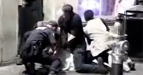 Police Abusing and Beating 64-years-old Man