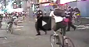 NYPD Attacking a Bicyclist