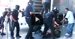 LA Police Attacking Random Innocent People During Protest
