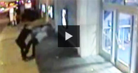 Police Officer Dunks Wrong Man Into Wall And Doesn't Help Him Up