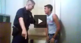 Serbian Cop Harassing Young Gypsy