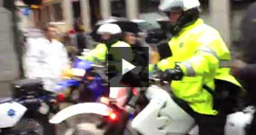 SF Cops Ram Motorcycles Into Occupy San Francisco Crowd