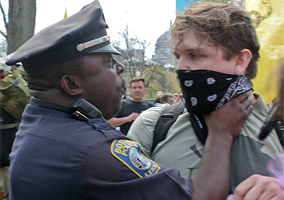 Boston Cop Chokes a Protester at the Anti-Tea Party Protest