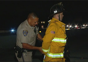 Firefighter Arrested While Helping Crash Victims