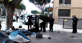 Caught On Camera: LAPD Shoots A Non-Violent Homeless Man On a Daylight